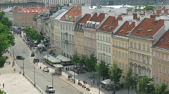 Warsaw, Poland. The old town street. Timelapse Stock Footage