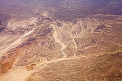 Aerial view of desert, nature background. Kuvituskuvat