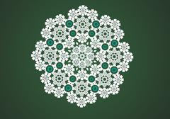 Vector lace circle graphic Stock Illustration