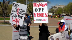 Yemeni anti-war protest  Stock Footage