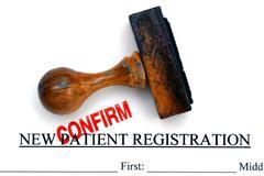 Patient registration form Stock Photos