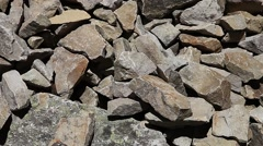 Pile of dry harsh mountain rock Stock Footage