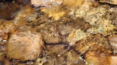 Mountain creek crystal clear water Stock Footage