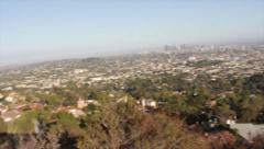 Los Angeles City, Hiking Trail Panning Shot Stock Footage