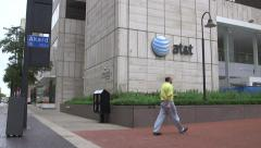 Stock Video Footage of AT&T Building Pan.mp4