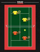 Tennis court Stock Illustration