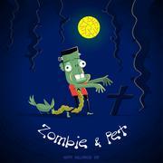 Ghost of halloween - stock illustration