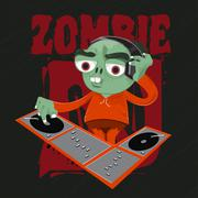 Zombie Selfie - stock illustration