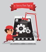 Technician App - stock illustration