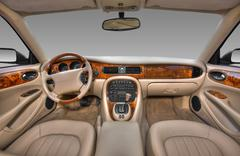 View of the interior of a modern automobile - stock photo