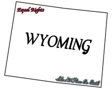 Wyoming State Motto and Slogan - stock illustration