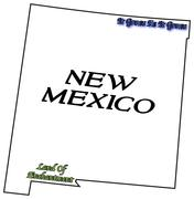 Stock Illustration of New Mexico State Motto and Slogan