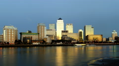 4k Time Lapse of London's Canary Wharf Stock Footage