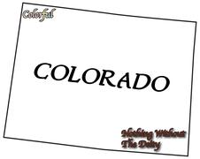 Colorado State Motto and Slogan - stock illustration