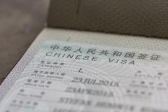 Chinese Visa - stock photo
