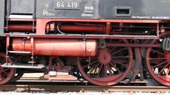 Locomotive drives off Stock Footage