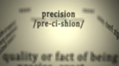 Definition: Precision Stock Footage