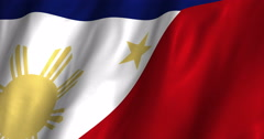 Philippines waving flag 4K Stock Footage