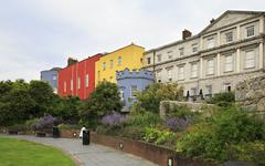 Stock Photo of Dublin Castle, seen from the park to the south, outside the walls