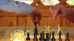 Game of chess, in doubt, ending the game mat Stock Footage