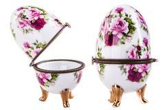 Porcelain egg - stock photo