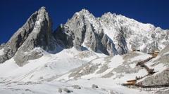 Amazing view of Jade Dragon Snow Mountain Stock Footage
