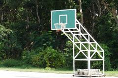 Stock Photo of Basketball hoop