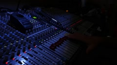 Audio Sound Board Stock Footage