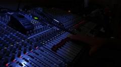 Audio Sound Board Stock Footage