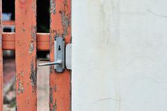 Door knob in  soft light - stock photo