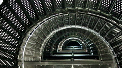 Sprial stair case of a light house Stock Footage