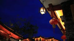 Beautiful night view of Lijiang street Stock Footage
