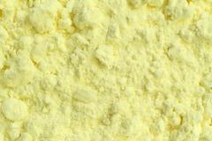 Sulfur powder Stock Photos