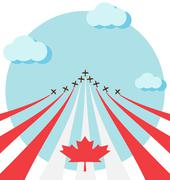 Air show for the national day of Canada - stock illustration