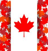 Maple Leaf background for the national day of Canada Stock Illustration