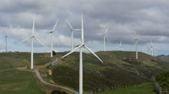 West Wind Wind Farm Wellington New Zealand Stock Footage