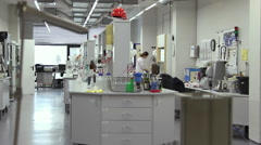 Woman working in the laboratory, Moscow Brewing Company. Stock Footage