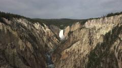 Yellowstone NP Lower falls canyon Grand Canyon river 4K Stock Footage