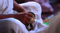 Traditional Indian cymbals Thalam (manjira, karatalas). Stock Footage