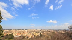 From the Janiculum Hill (Gianicolo). Rome. Italy. TimeLapse. 1280x720 Stock Footage