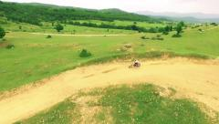 Dirt Bike Drifting Off-Road Path Extreme Bike Competition Motocross Sport Stock Footage