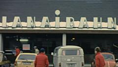 Ramsau 1981: the entrance of the cable car Stock Footage
