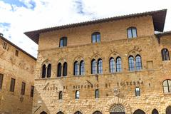 Bishop's Palace in Volterra - stock photo