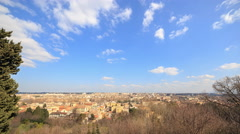 View from the Janiculum Hill (Gianicolo). Zoom. Italy. Time Lapse. 4K Stock Footage