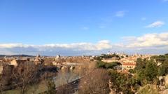 River Tibr, view from the Giardino degli Aranci. Rome, Italy. Time Lapse. Stock Footage