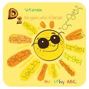 Healthy ABC: Vitamin D Stock Illustration