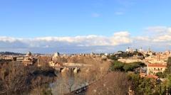 View from the Giardino degli Aranci. Zoom. Rome, Italy. Time Lapse. 1280x720 Stock Footage