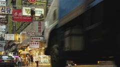 Busy old neighbourhood in Hong Kong 4K Stock Footage