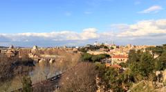 View from the Giardino degli Aranci. Panorama. Rome, Italy. TimeLapse. 4K Stock Footage