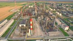 Global Industry Oil Refinery Petrol Production Commerce Refinery Factory Stock Footage